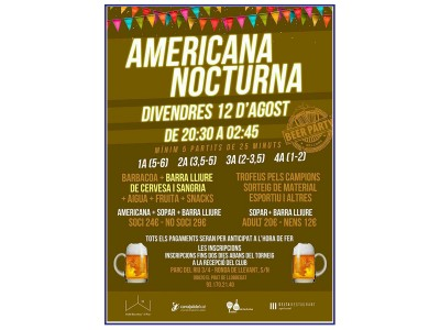 Americana Nocturna Beer Party